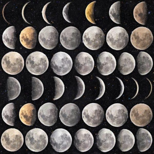 Moon Phases Wallpaper