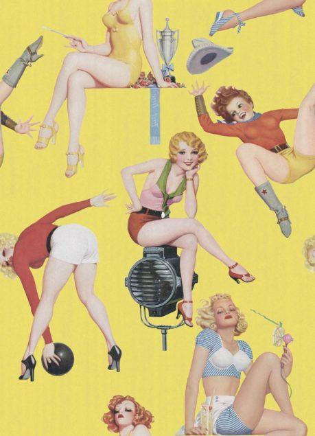 Pin-up Girls I Wallpaper