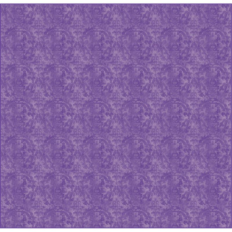 Amethyst Damask Tufted Rug
