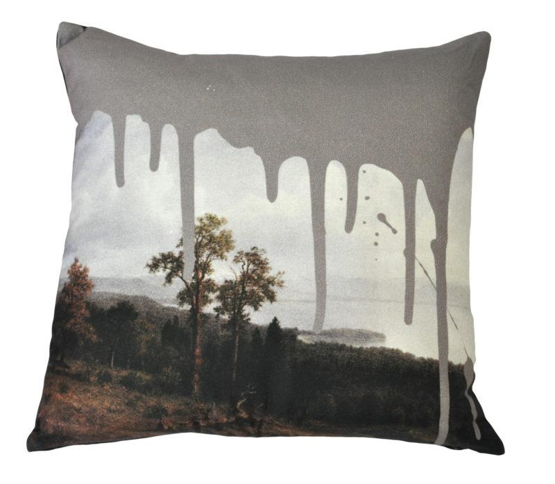 Artistic Grey Cushion
