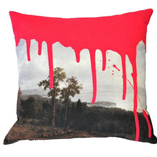 Artistic Pink Cushion