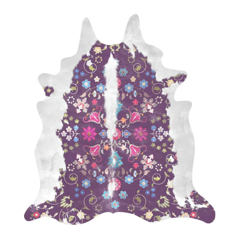 Gypsy Cowhide Purple Rug