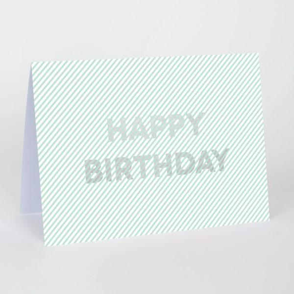 Happy Birthday Stripes Card