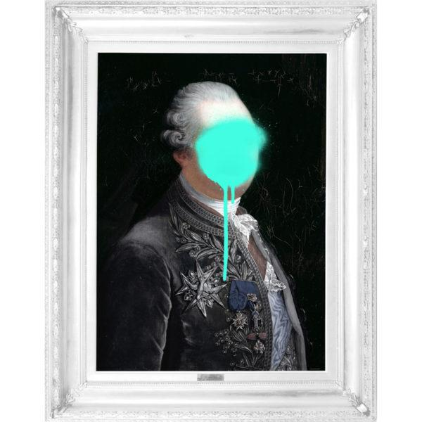 Monsieur Mint Wall Canvas