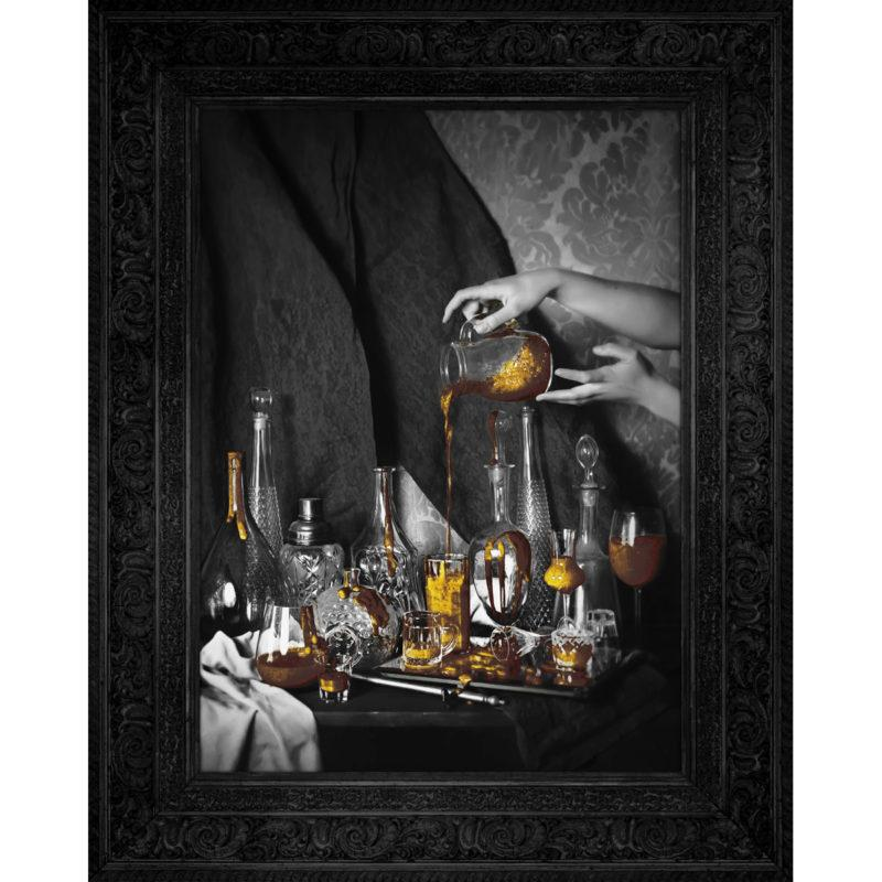 Still Life Gold Wall Canvas