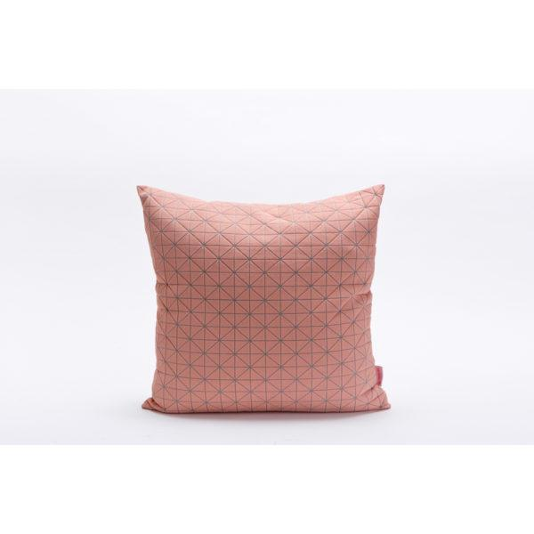 Geo 50x50cm Cushion - Pink & Grey