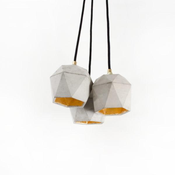 Concrete Triangular Pendant - Group of 3