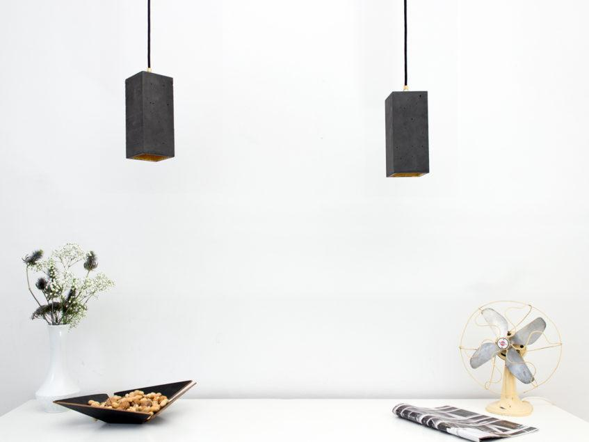 Concrete Rectangular Pendant Light
