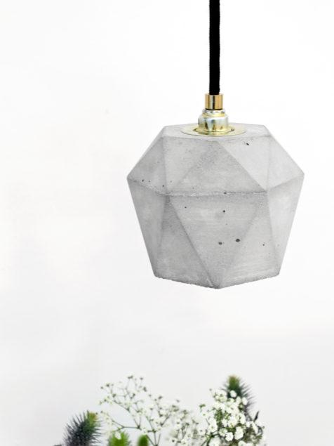 Concrete Triangular Pendant 2