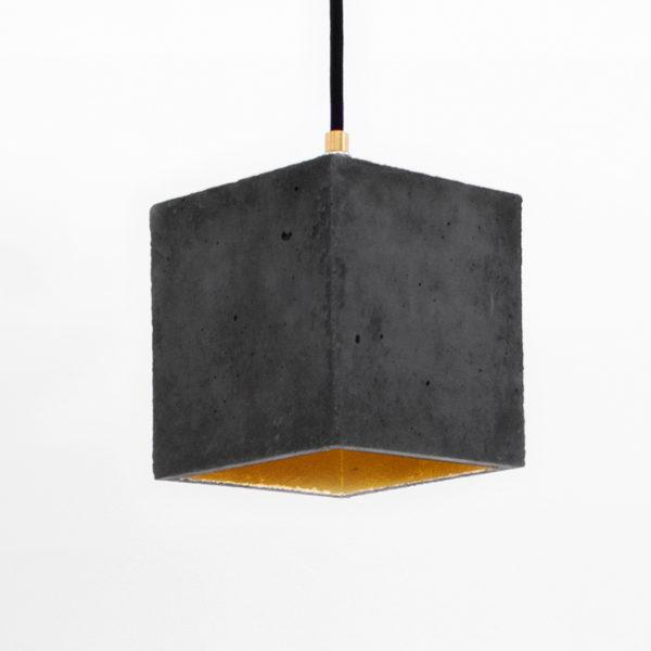 Concrete Cubic Pendant Light