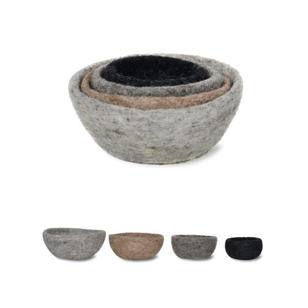 Southwold Set of 4 Felt Nesting Bowls