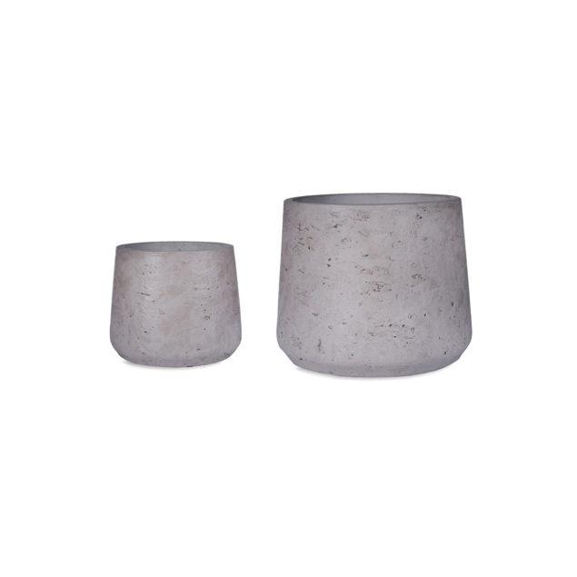 Stratton Set of 2 Tapered Stone Pots