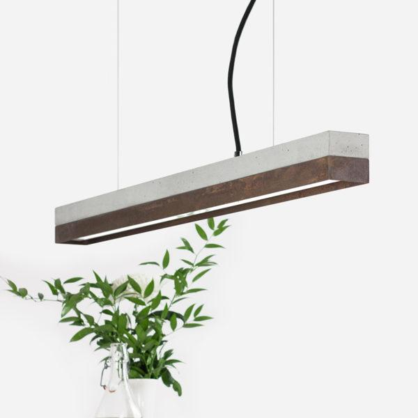 Concrete & Corten Steel Pendant Light