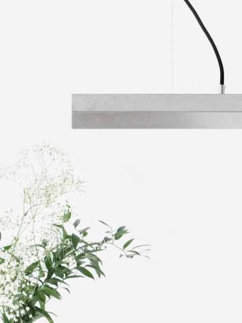Concrete & Stainless Steel Pendant Light