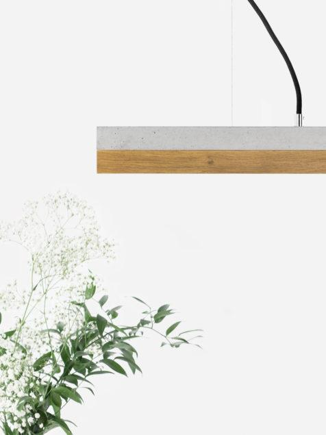 Concrete & Oak Pendant Light