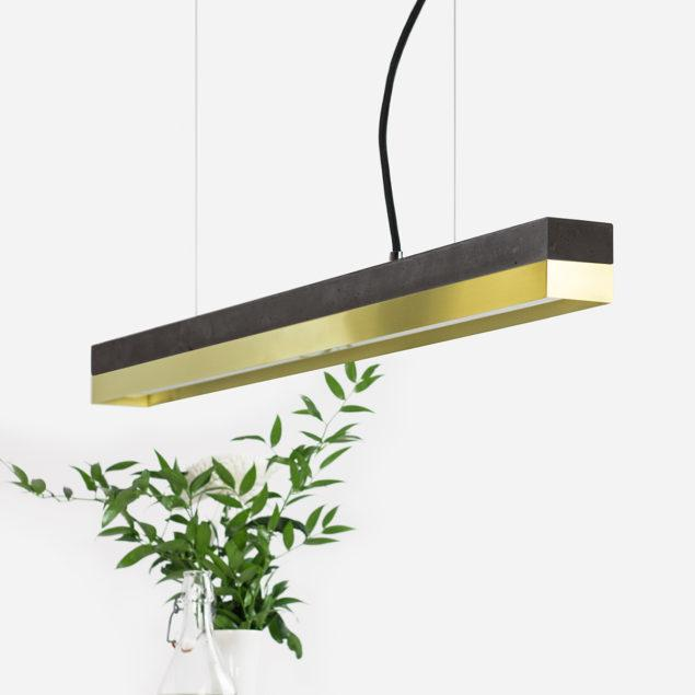 Concrete & Brass Pendant Light