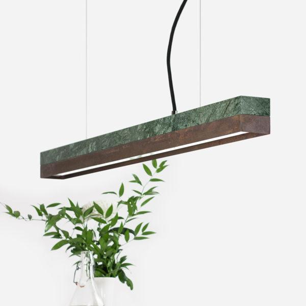 Marble & Corten Steel Pendant Light
