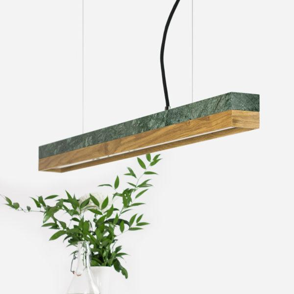Marble & Oak Pendant Light