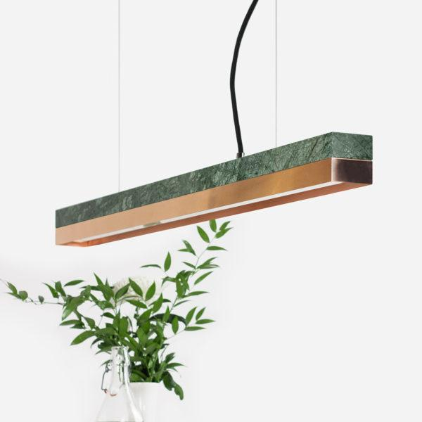 Marble & Copper Pendant Light