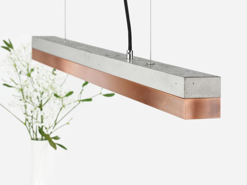 Concrete & Copper Pendant Light