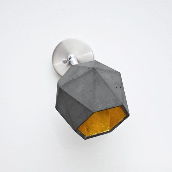 Concrete Triangular Wall Light