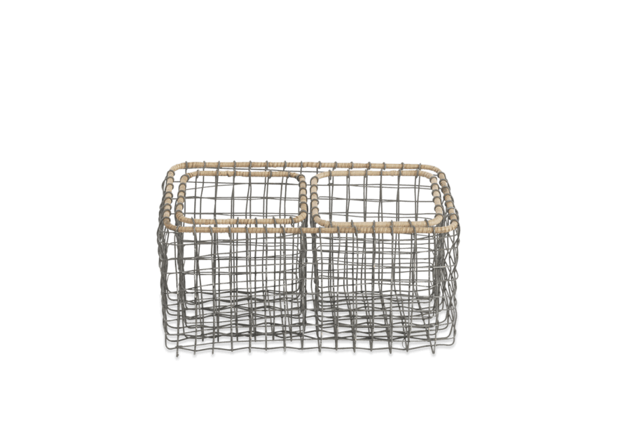 Bagato Wire Basket Set of 3
