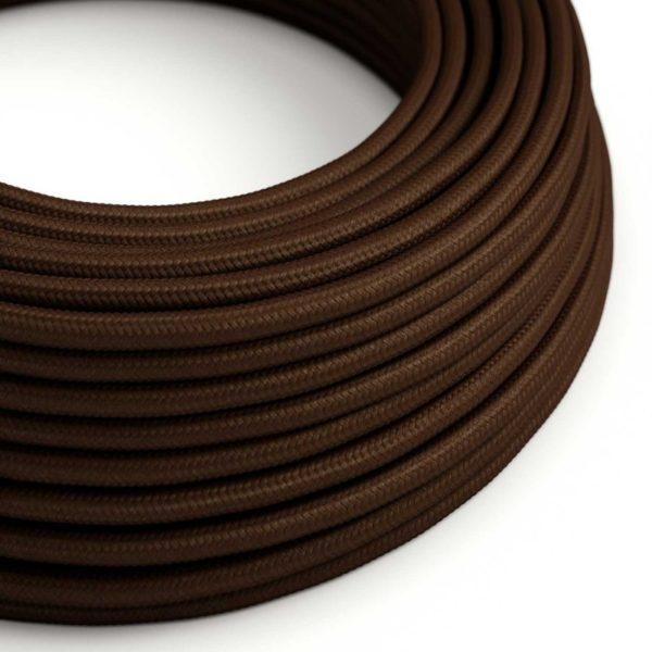 Fabric Braided Cable - Brown