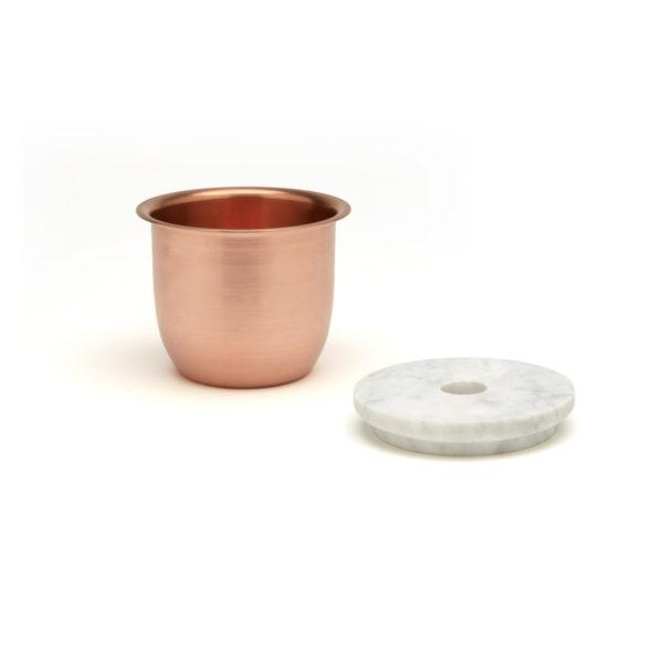 Small Container - Copper with Marble Lid