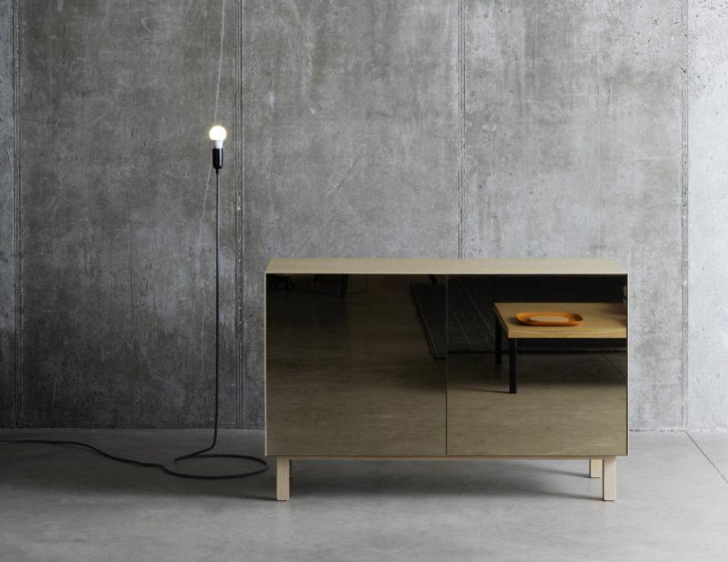 Cubo - Mirror Sideboard - 2 Doors