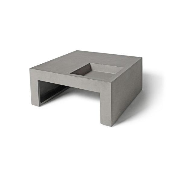 Concrete Green Square Coffee Table