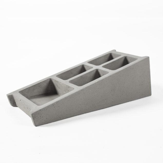 Concrete Blockwork Desk Organiser