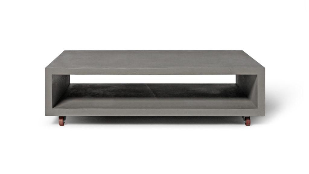 Concrete Monobloc Coffee Table with Metal Legs