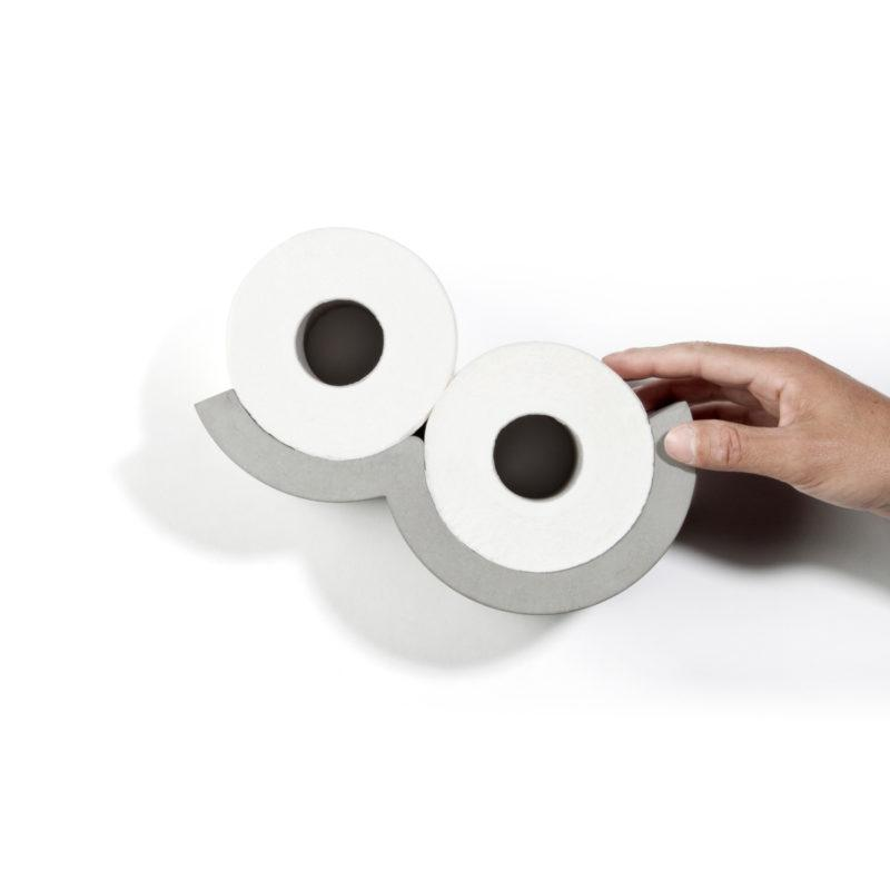Concrete Cloud XS Toilet Roll Dispenser