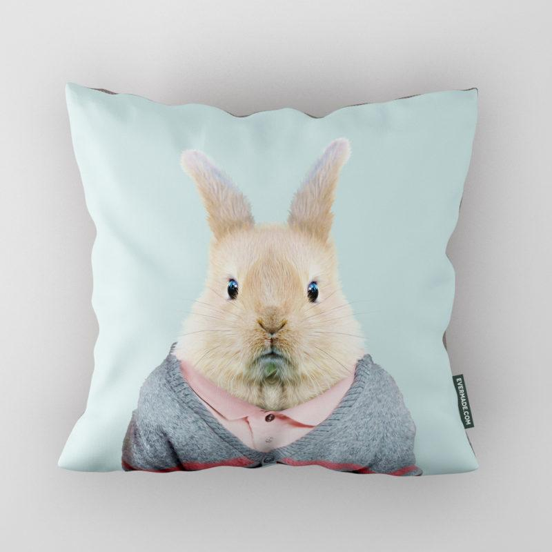 Bunny Zoo Portrait Cushion