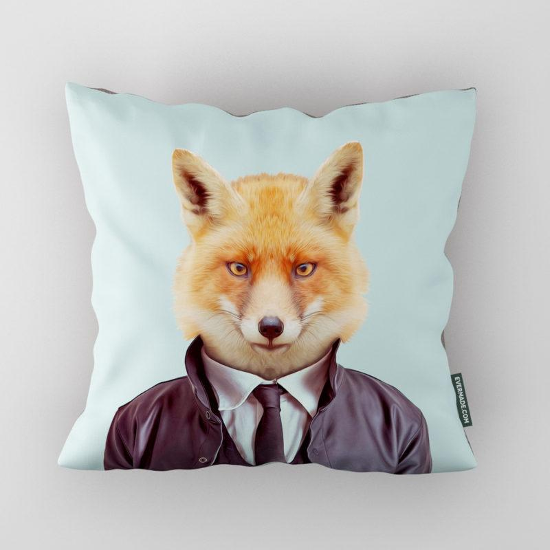 Fox Zoo Portrait Cushion