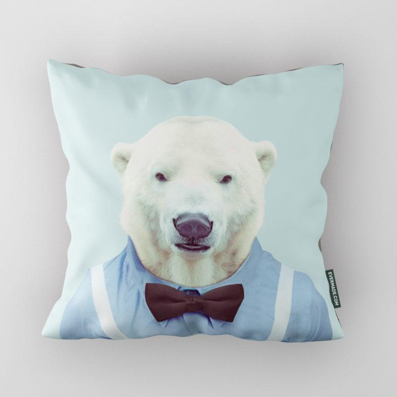 Polar Bear Zoo Portrait Cushion