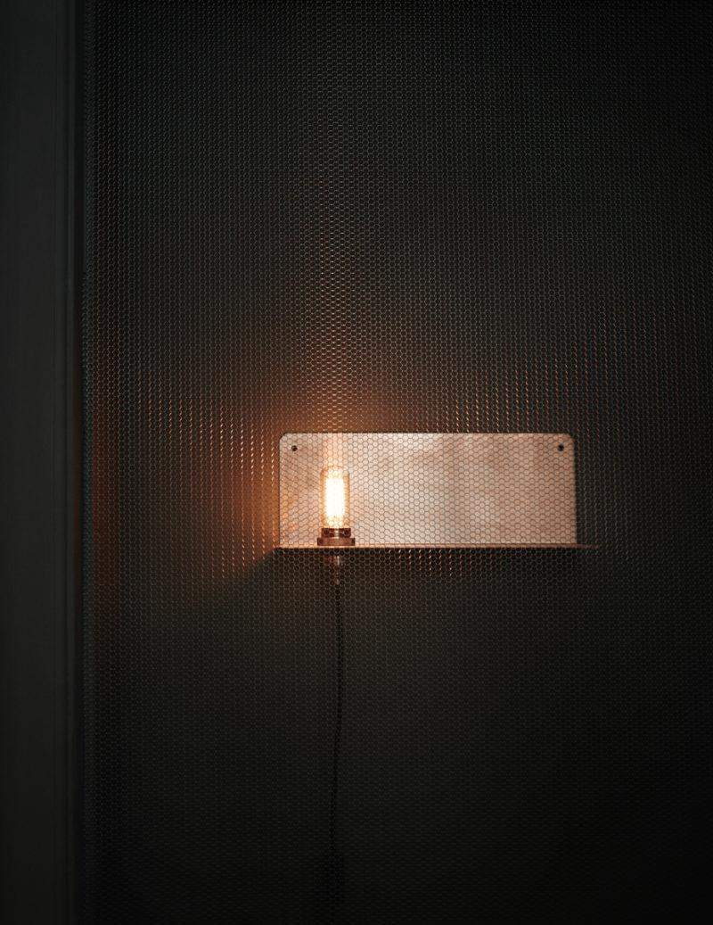 90° Copper Wall Lamp