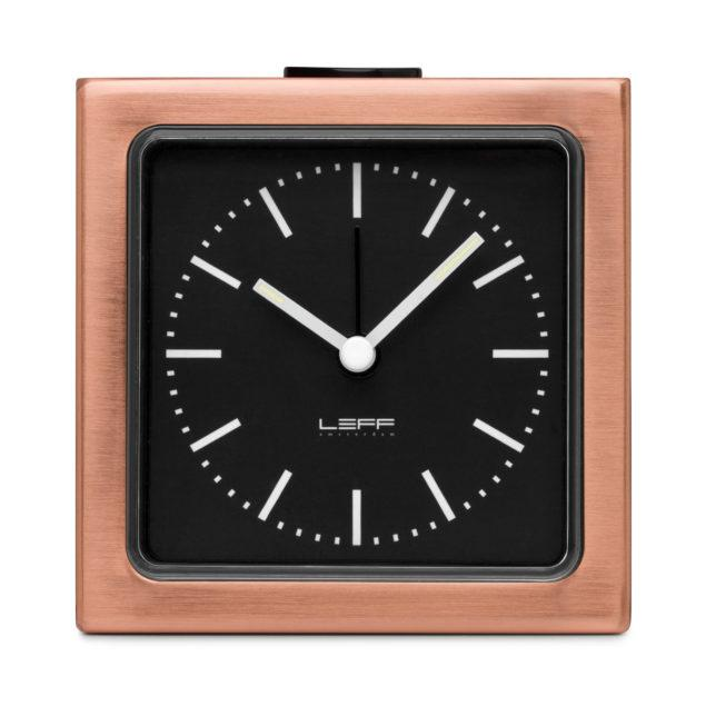 Block Alarm Clock - Copper/Black