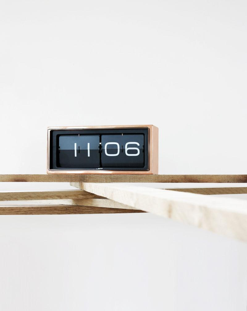 Brick Clock - Stainless Steel/Copper