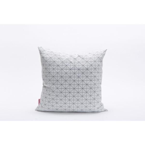 Geo 50x50cm Cushion - White & Silver Grey