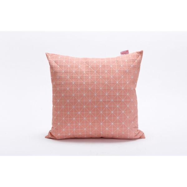 Geo 50x50cm Cushion - Pink & White