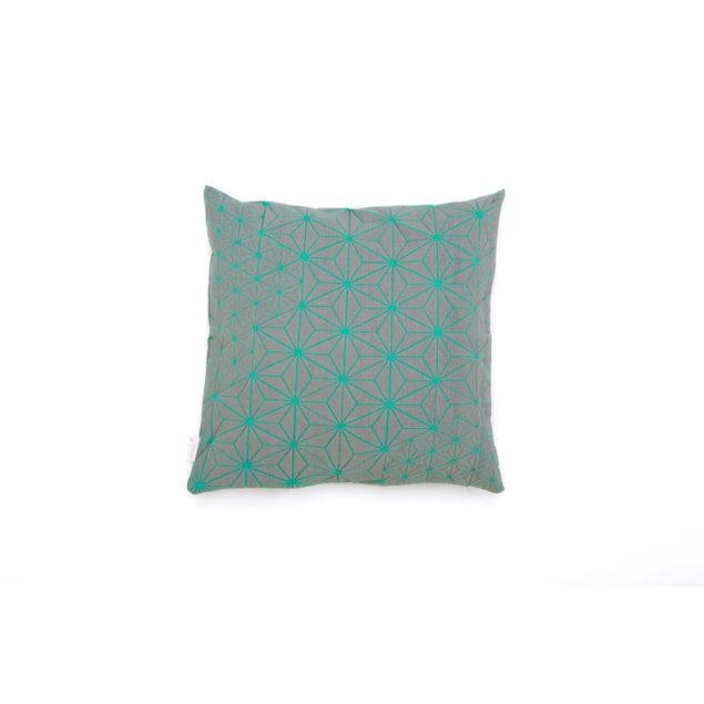 Tamara 40x40 Cushion - Grey & Turquoise