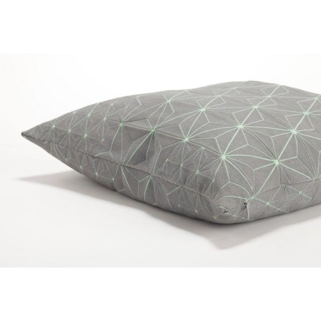 Tamara 40x40 Cushion - Grey & Green