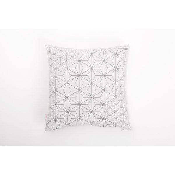 Tamara 40x40 Cushion - White & Light Grey