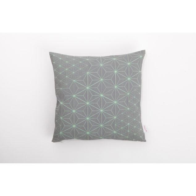 Tamara 50x50 Cushion - Grey & Green