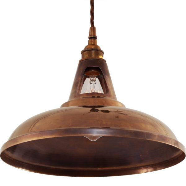 Geneva Industrial Brass Pendant Light