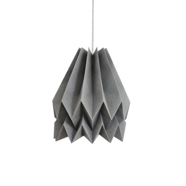 Origami Style Plain Paper Lampshade Alpine Grey