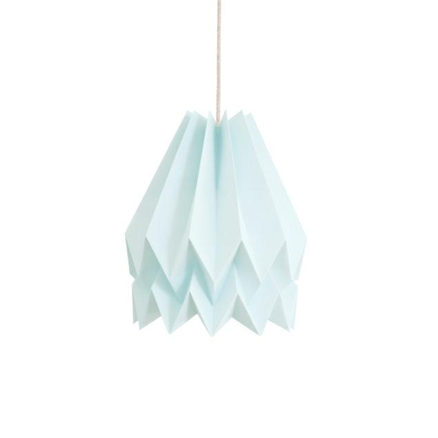 Origami Style Plain Paper Lampshade Mint Blue