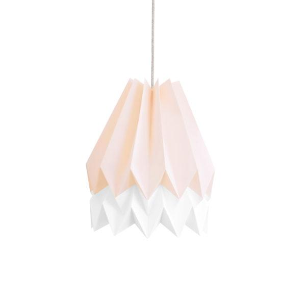 Origami Style Stripe Paper Lampshade Pink & White