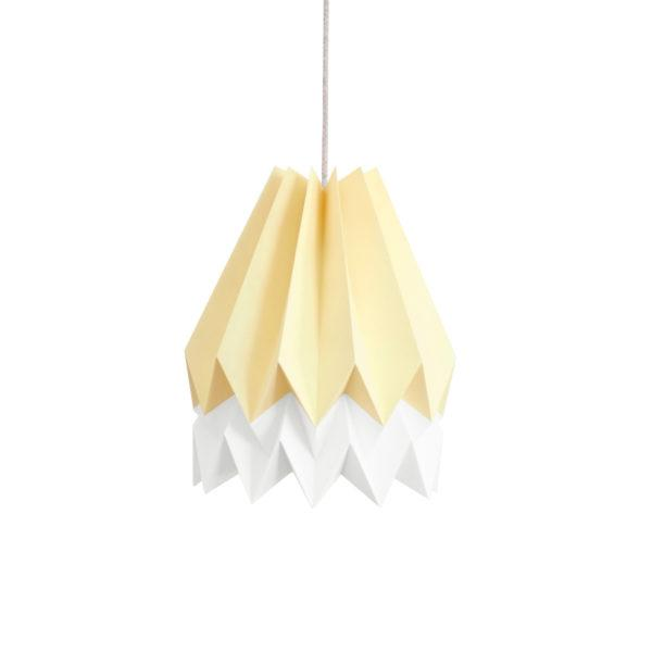 Origami Style Stripe Paper Lampshade Yellow & White